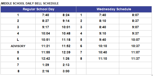 MS Bell Schedule 2015-2016