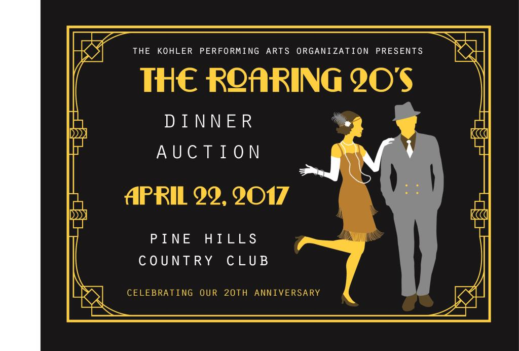 PAO Roaring 20s Dinner Auction - April 22, 2017, Pine Hills Country Club
