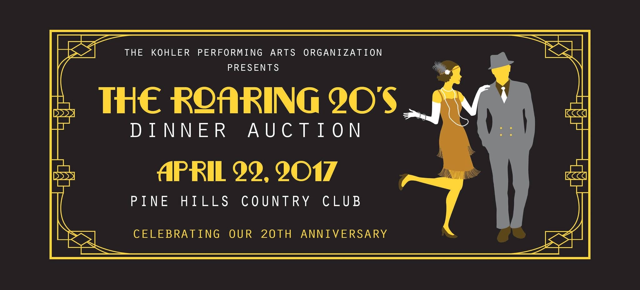 The Roaring 20's Dinner Auction - April 22, 2017, Pine Hills Country Club